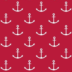 White anchors on Red