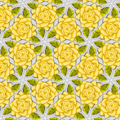 Yellow Roses on Mesh