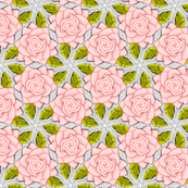Light Pink Roses on Mesh