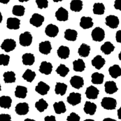 Painted Dots Black