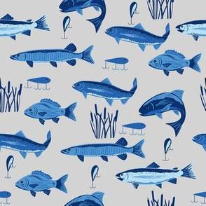 Fish Freshwater Blue Gray Small
