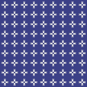 Decorative Cross on Blue