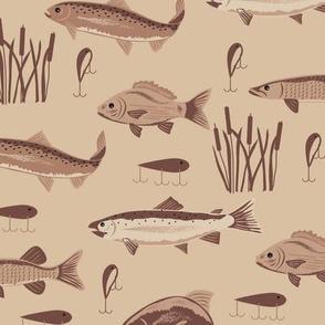 Fish Freshwater Brown Large