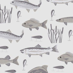 Fish Freshwater Gray Large