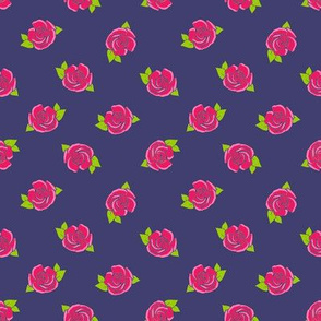 rose on navy