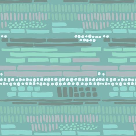 sticks and stones blue fabric by mrshervi on Spoonflower - custom fabric