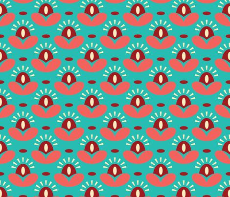 SUNNY FLORAL rainbow fabric by blue_platypus_fabrics on Spoonflower - custom fabric