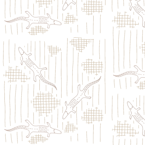 leaping lizards muted fabric by mrshervi on Spoonflower - custom fabric