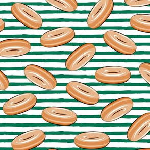 glazed donuts (green stripes)