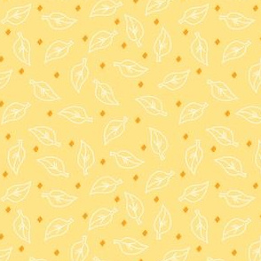 White Leaves on Yellow Gold