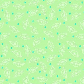 White Leaves on Green