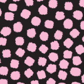 Painted Dots Pink On Black