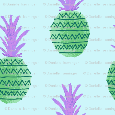 Fiesta Pineapples - Green