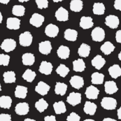 Painted Dots White On Black
