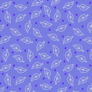 White Leaves Periwinkle Purple