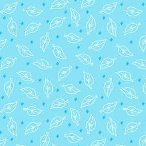 White Leaves on Turquoise