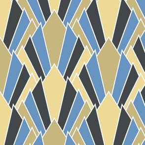 Tan + blue art deco diamonds by Su_G (LARGE)