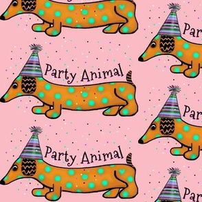 Get Your Spots On- Dachshund/ Party Animal