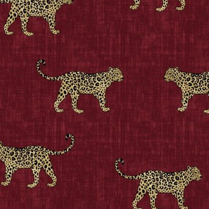 Leopard Texture -Dark Red