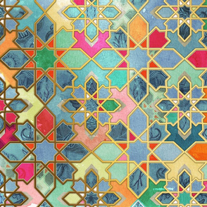 Vertical Gilt & Glory - Colorful Moroccan Mosaic 2