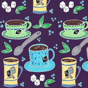 3  for Tea - tea,cups & spoon