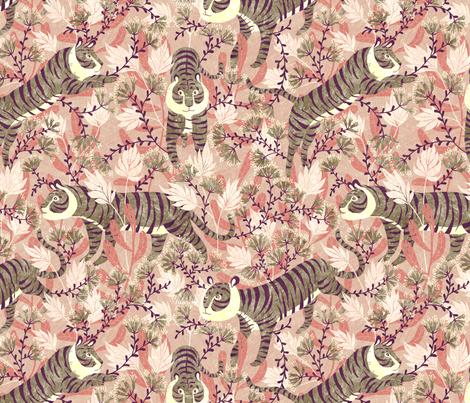tigerpink fabric by gaiamarfurt on Spoonflower - custom fabric