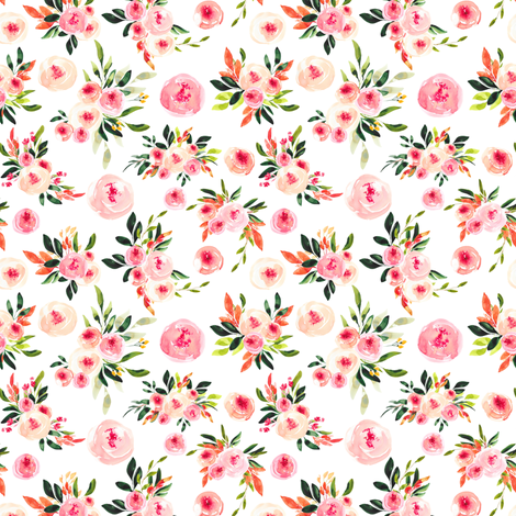 "Melody Floral 4"" fabric by greenmountainfabric on Spoonflower - custom fabric"