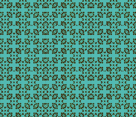 Teal and Brown fabric by zmarksthespot on Spoonflower - custom fabric