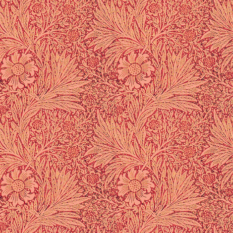 Morris Marigold Coral fabric by amyvail on Spoonflower - custom fabric