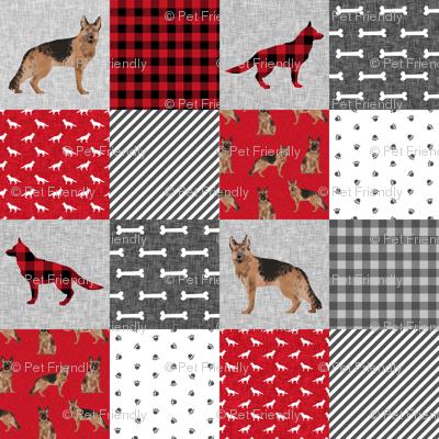 German Shepherd Pet Quilt A Cheater Quilt Wholecloth