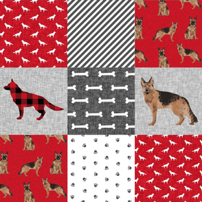 german shepherd pet quilt a cheater quilt wholecloth collection