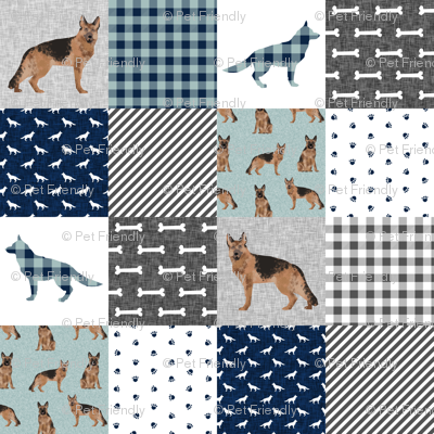german shepherd pet quilt b cheater quilt wholecloth collection