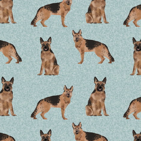 german shepherd pet quilt b dog fabric collection fabric by petfriendly on Spoonflower - custom fabric