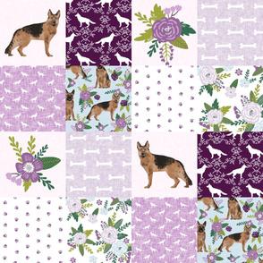 german shepherd pet quilt c cheater quilt wholecloth collection