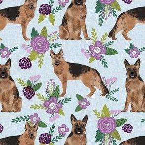 german shepherd pet quilt c dog fabric collection floral