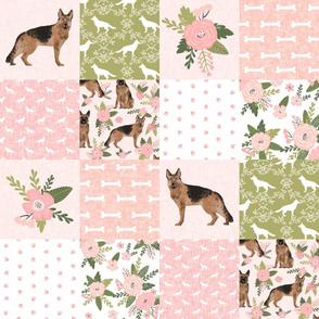 german shepherd pet quilt d cheater quilt wholecloth collection