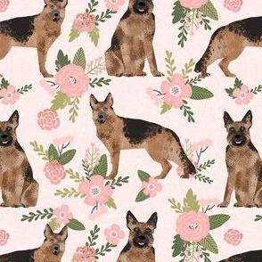 german shepherd pet quilt d dog fabric collection floral
