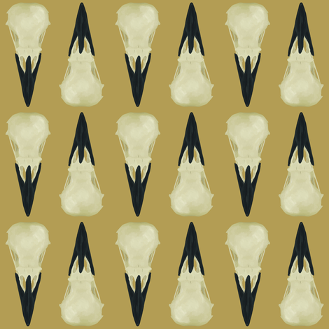 Raven Skulls fabric by arts_and_herbs on Spoonflower - custom fabric