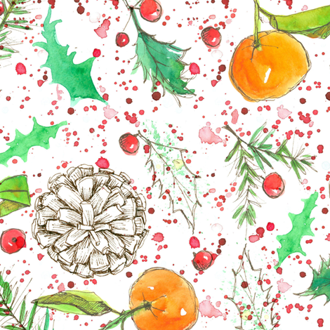 Christmas Potpourri  fabric by countrygarden on Spoonflower - custom fabric