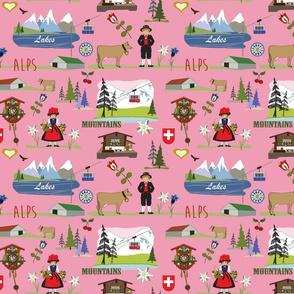 pink Swiss Alpine