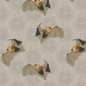 "Flying Fox (Part of Bats & Figs Mini Collection) - 6"" Repeat"