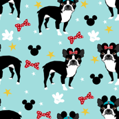 boston terrier theme park dog blue (small)