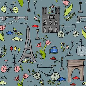 Cycling through Paris