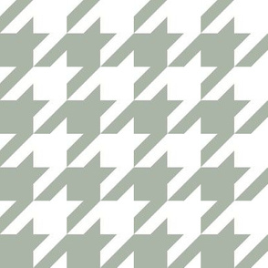 Elegant holiday houndstooth - grey and white