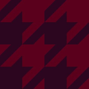 Elegant holiday houndstooth - red and maroon