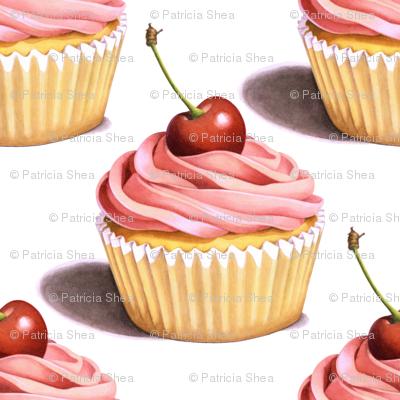 Large Pink Cupcakes