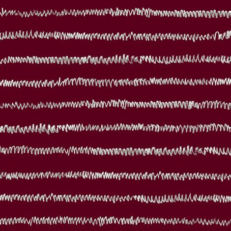 grey chalk mini-stripe on maroon fabric by weavingmajor on Spoonflower - custom fabric