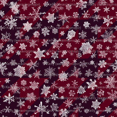 snowflakes on red houndstooth