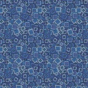 Organic Geometry - Blue Squares