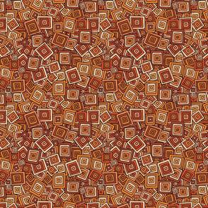 Organic Geometry - Orange Square